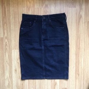 H&M Conscious Dark Wash Denim Pencil Skirt